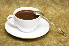 White cup with saucer royalty free stock photo