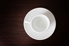 White cup and saucer for coffee Stock Photography