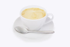 White cup on a saucer Stock Photography