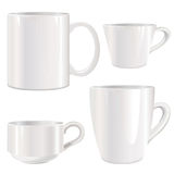 White cup  set Royalty Free Stock Photography