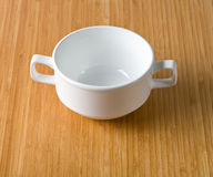 White cup of soup Stock Image
