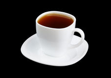 White cup of strong tea Stock Photography