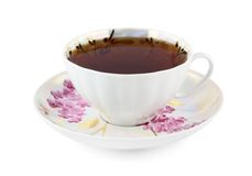 White cup of strong tea Royalty Free Stock Photo