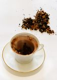 White cup with a tea Royalty Free Stock Photography