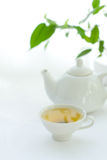 White cup with tea Royalty Free Stock Image