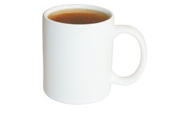 White cup of tea Stock Image
