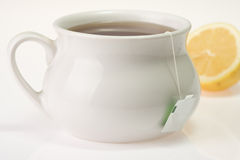 White cup of tea royalty free stock photography