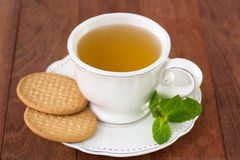 White cup of tea Stock Photos