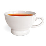 White cup of tea Stock Photography