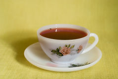 White cup of tea Stock Images