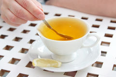 White cup of tee, sweeting tee stock images