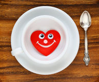 White cup, Valentine's Day Royalty Free Stock Photo