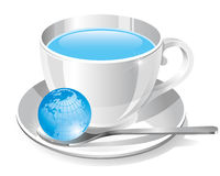 White cup of water Stock Image
