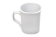 White cup on white. Stock Photography