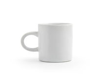 White Cup  on white background Royalty Free Stock Photography