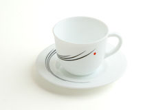 White cup with a white plate Royalty Free Stock Photography