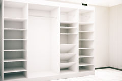 White cupboard interior Stock Images