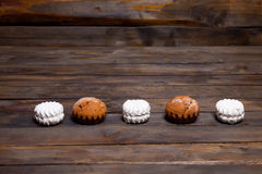 White cupcake and marshmallow Royalty Free Stock Image