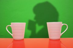 White cups Royalty Free Stock Photo