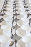 White cups Royalty Free Stock Image