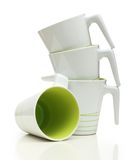 White cups isolated Royalty Free Stock Photography