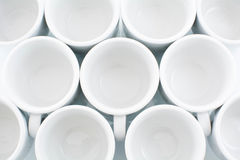 White cups Stock Images