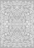 White curled elements on grey Royalty Free Stock Photography