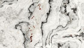 White Curly Marble Texture Stock Images