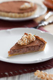 White currants tart. White currants and chocolate cream tart, selective focus Stock Photo