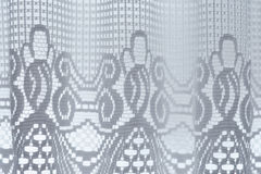 White curtain. With abstract floral pattern Royalty Free Stock Photo