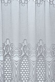 White curtain. With abstract floral pattern Stock Photo