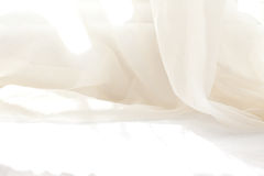 White Curtain. White window curtain abstract under sunlight Royalty Free Stock Images