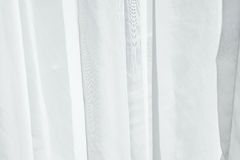White curtain fabric Royalty Free Stock Photos