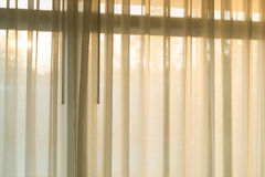 White curtain fade soft relax. At sunset Royalty Free Stock Photography