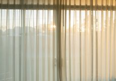 White curtain fade soft relax. At sunset Royalty Free Stock Photo