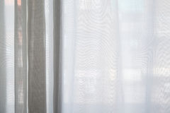 White curtain of the lounge window texture background.  Royalty Free Stock Photo