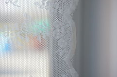 White curtain Stock Image