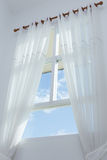 White curtain on the window Royalty Free Stock Image