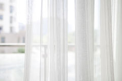 White curtain with window Stock Images