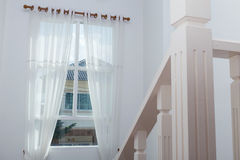 White curtain window Stock Photography