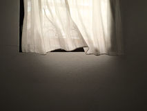 White curtain and window royalty free stock image