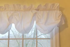 White Curtains Stock Photo