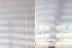 White curtains blinds Stock Images
