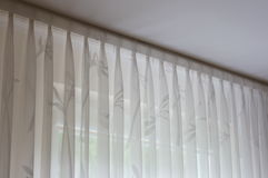 White curtains stock image