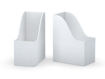 White curve blank  file holder with clipping path Stock Photography
