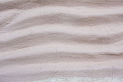 Curve wall. White curve cement wall as background Royalty Free Stock Photography