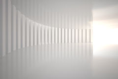 White curved room Royalty Free Stock Image