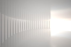 White curved room with bright light Royalty Free Stock Image