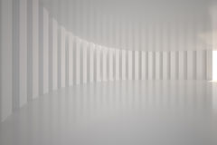 White curved room Royalty Free Stock Photography
