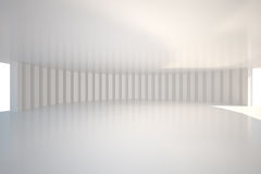 White curved room Royalty Free Stock Images